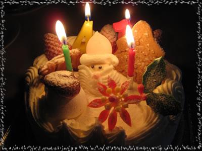 三軒茶屋アーモンド洋菓子店「クリスマスケーキ」:生クリーム6号(18cm)【ご来店受渡し】