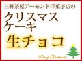三軒茶屋:アーモンド洋菓子店「クリスマスケーキ」:生チョコ(コーティング)5号(15cm)【ご来店受渡し】