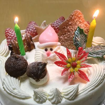 【世田谷区内限定:お届け無料】サンタがお届け!クリスマスケーキ:生チョコ(コーティング)6号(18cm)
