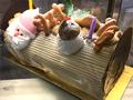 【世田谷区内限定:お届け無料】サンタがお届け!クリスマスケーキ:ブッシュ・ド・ノエル