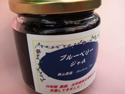 自然栽培ブルーベリーの粒がいっぱい!横山農園のブルーベリージャム 200g