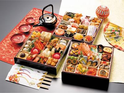 割烹料理千賀「天寿千」三段重61品(重付き)