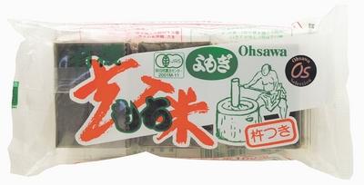 [SALE] オーサワのよもぎ入玄米もち 300g(6個入)