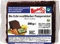 ドイツの有機ライ麦パン「ブンパーニッケル」【250g/5枚入り】