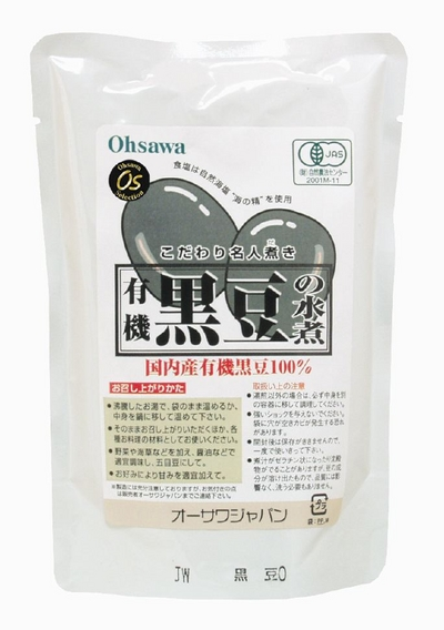 [SALE] 国内産JAS有機!オーサワの黒豆の水煮【230g】