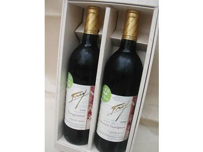 カリフォルニア産オーガニックワインギフトセット【750ml×2本/亜硝酸塩不使用】