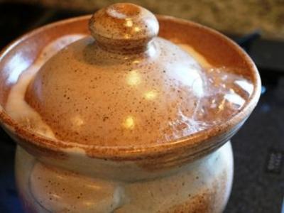 沸騰したら火を止めるだけ!ふっくら美味しいご飯の出来上がり!玄米飯炊釜【3合炊き】