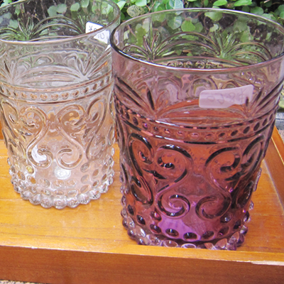 【輸入食器/雑貨】インテリアにも!タイ製のグラス/グリーン