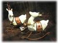 【SALE/輸入雑貨/クリスマス雑貨】ベル付きトナカイ(前向き)/サイズ:H16×W17