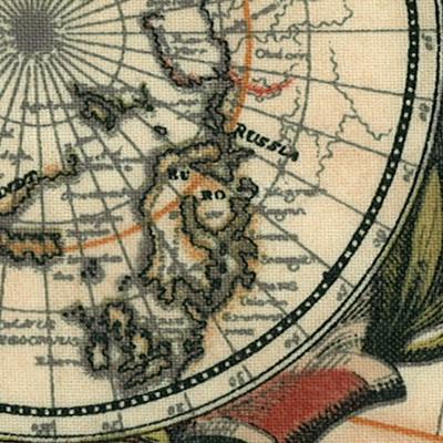 【雑貨/輸入生地/地図モチーフ】パネル/P-4 地図モチーフ サイズ:37cm×60cm