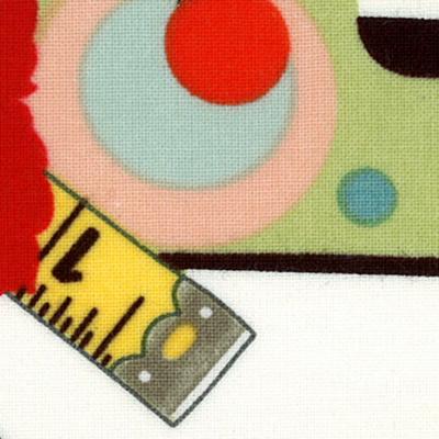 【雑貨/輸入生地】USAコットン/U-46 お裁縫  カットクロス50cm×55cm