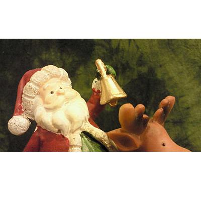 【輸入雑貨/クリスマス雑貨】トナカイ乗りサンタ