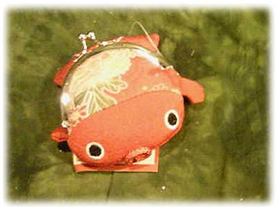 【雑貨/財布】金魚型コインケース/ レッド