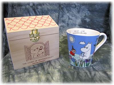 【雑貨/食器】ムーミンマグカップ(箱入り)/ブルー