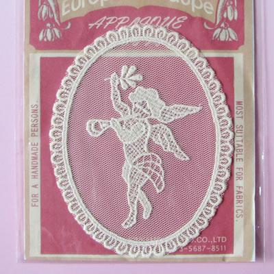 【輸入雑貨/手芸/モチーフ】アップリケモチーフ エンジェル 10cm×7.5cm