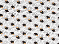 【雑貨/輸入生地/michael miller(マイケルミラー)】タイプライター/U298 カットクロス50cm×55cm