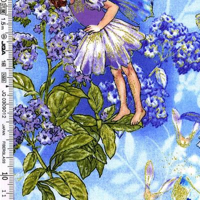 【雑貨/USAコットン/michael miller】Dawn Fairies/H-104 カットクロス50cm×55cm