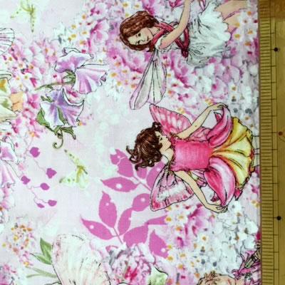 【雑貨/USAコットン/妖精】花の妖精 /H-105 カットクロス50cm×55cm