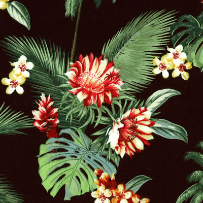 【雑貨/国産プリント/フラワー】U-398/南の国に咲き誇る花 カットクロス50cm×55cm