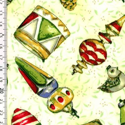 【雑貨/USAコットン/clothworks(クロスワークス)】C-77/クリスマスプリント布 カットクロス50cm×55cm
