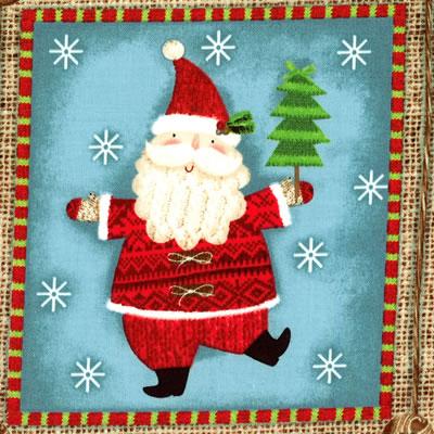 【雑貨/USAコットン/SPX fabrics】C-80/クリスマスプリント布 横110×縦約30cm