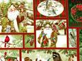 【雑貨/USAコットン/パネル】C-82/クリスマスプリント布 横110×縦約30cm