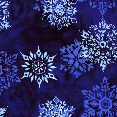 【雑貨/USAコットン/HOFFMAN(ホフマン)】HHH-1/バティック 雪の結晶 カットクロス50cm×55cm
