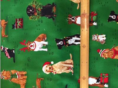 【雑貨/USAコットン】C-86/クリスマスプリント布 カットクロス50cm×55cm