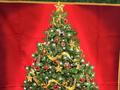 【雑貨/USAコットン/パネル】P-53/クリスマスツリー 幅90×高さ110cm