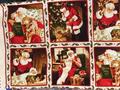 【雑貨/USAコットン/パネル】P-56/クリスマスパネル 幅110×高さ50cm