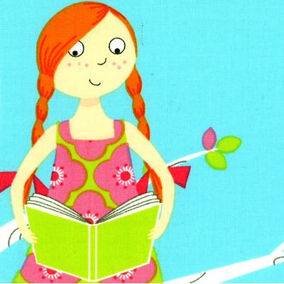 【雑貨/USAコットン/Michael Miller(マイケルミラー)】U-427/図書ガールズ I love books 50cm×55cm