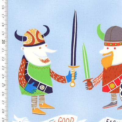 【雑貨/USAコットン/ALEXANDER HENRY(アレキサンダーヘンリー)】U-435/バイキング the vikings 50cm×55cm