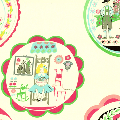 【雑貨/USAコットン/ALEXANDER HENRY(アレキサンダーヘンリー)】U-436/おとぎ話 fairytale 1m(幅112cm)
