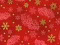 【雑貨/USAコットン/ROBERT KAUFMAN(ロバートカフマン)】C-88/クリスマスプリント布(レッド) カットクロス 50cm×55cm
