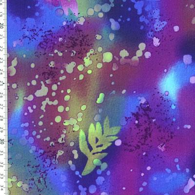 【雑貨/USAコットン/BENARTEX(ベナテックス)】HH-81/フォッシルファーン(Fossil Fern):パープル カットクロス50cm×55cm