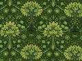 【雑貨/国産プリント/YUWA】HH-89/ミュルーズコレクション ディープグリーン カットクロス50cm×55cm