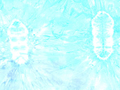 【雑貨/USAコットン/バティック】HHH-14/スカイブルー 50cm×55cm