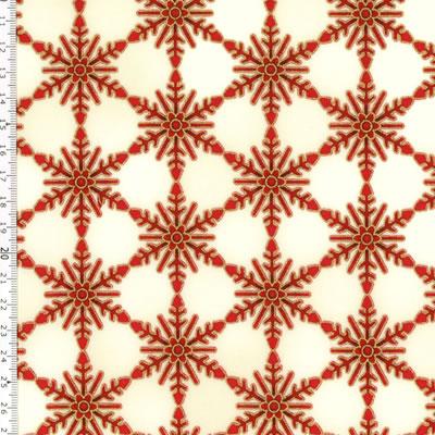 【雑貨/USAコットン/ROBERT KAUFMAN(ロバートカフマン)】C-98/冬の結晶 50cm×55cm