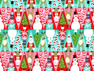 【雑貨/USAコットン/Michael Miller(マイケルミラー)】C-109/楽しいクリスマス 50cm×55cm