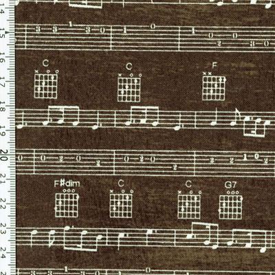 【雑貨/USAコットン/Windham Fabrics(ウィンダムファブリックス)】H-118/バンドスコア 50cm×55cm