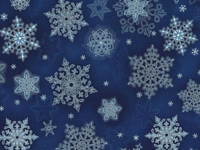 【雑貨/USAコットン/ROBERT KAUFMAN(ロバートカフマン)】HHH-19/雪の結晶 50cm×55cm