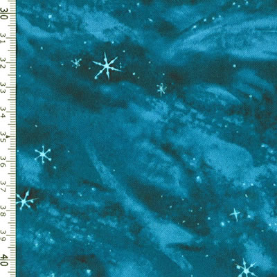 【雑貨/USAコットン/ROBERT KAUFMAN(ロバートカフマン)】HHH-20/冬の夜空 50cm×55cm