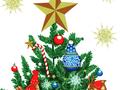 【雑貨/パネル/Windham Fabrics(ウィンダムファブリックス)】P-65/クリスマスツリー サイズ:90cm×110cm