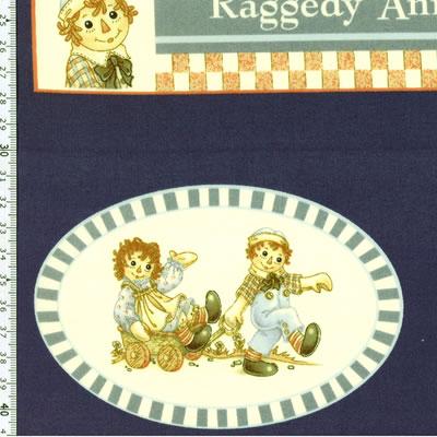 【雑貨/パネル/ルシアン】P-66/アンとアンディ(Raggedy Ann&Andy) サイズ:60cm×110cm