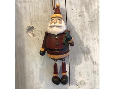 【輸入雑貨/クリスマス雑貨/インテリア】足ぶらサンタ <スマート>