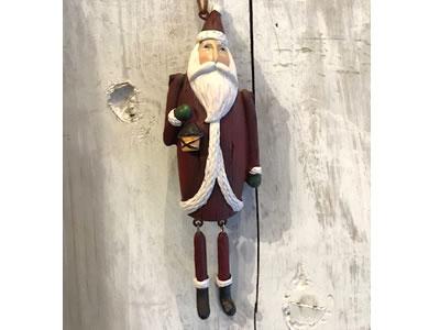 【輸入雑貨/クリスマス雑貨/インテリア】足ぶらサンタ <ふとっちょ>