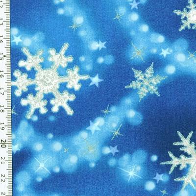 【雑貨/USAコットン/ROBERT KAUFMAN(ロバートカフマン)】C-114/雪の妖精 50cm×55cm
