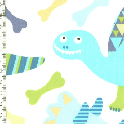 【雑貨/USAコットン/ALEXANDER HENRY(アレキサンダーヘンリー)】U-460/恐竜くん 50cm×55cm