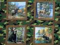 【雑貨/パネル/Windham Fabrics(ウィンダムファブリックス)】P-69/ワイルドアニマル サイズ:90cm×110cm
