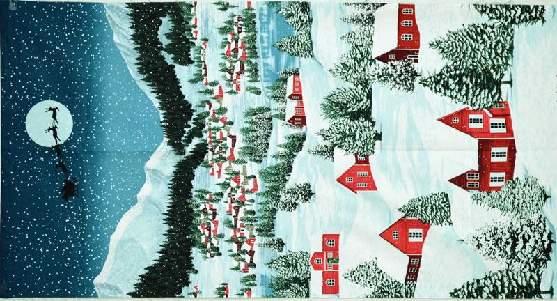 【雑貨/USAコットン/パネル/RJR】P-70/クリスマスイブ サイズ:60cm×110cm